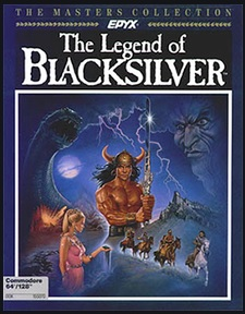 Legend of Blacksilver, a CRPG, C64 cover from the late 1980s
