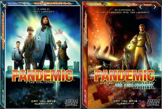 Pandemic tabletop game box art