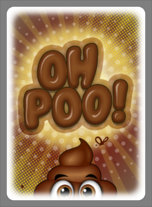 Oh Poo! Card Back Art.